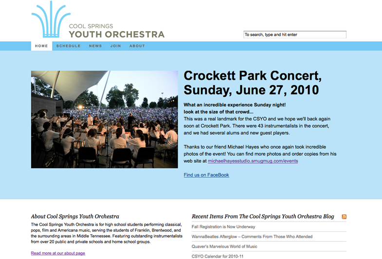 Cool Springs Youth Orchestra